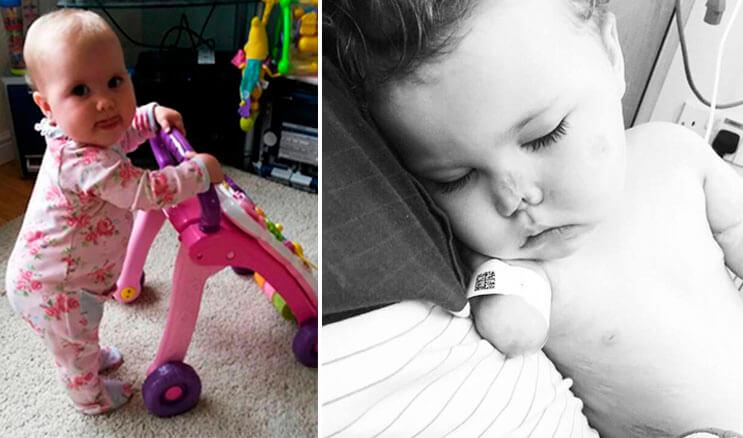 Amputaron las extremidades de esta valiente niña, pero se emocionó al recibir un regalo muy especial