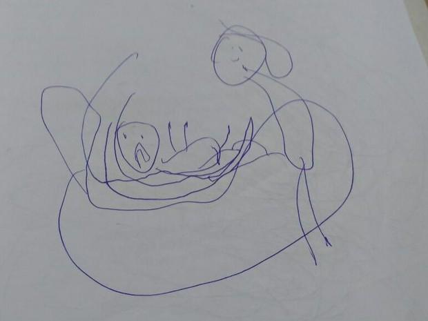 Una niña de 5 años mostró un horrible secreto cuando hizo este dibujo...