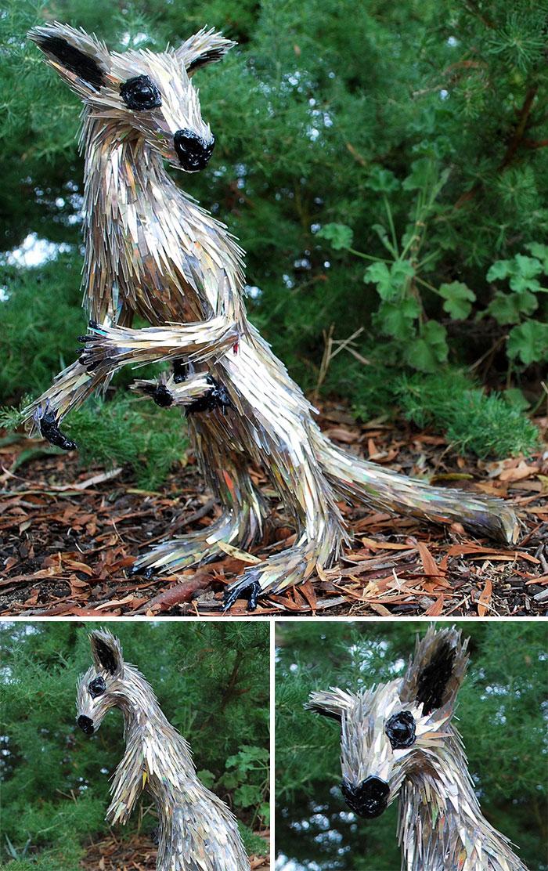 Este artista no tira los CDs viejos, los convierte en increíbles esculturas
