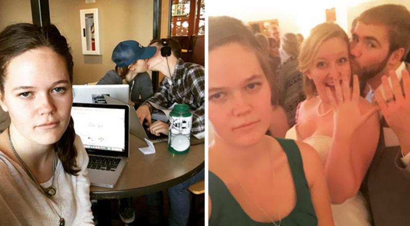 Esta mujer documenta su vida como sujetavelas en divertidos selfies y se convierte en una celebridad de internet