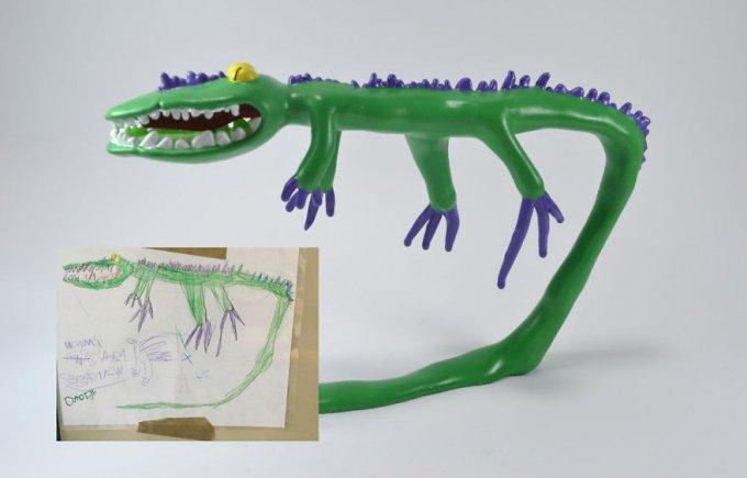 Esta Empresa Convierte Los Dibujos De Los Niños En Figuras Alucinantes