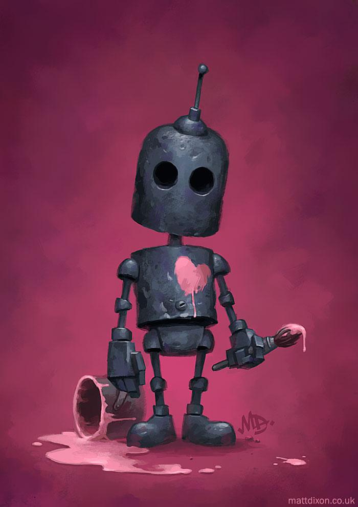 Mis robots solitarios experimentando la maravilla silenciosa del mundo