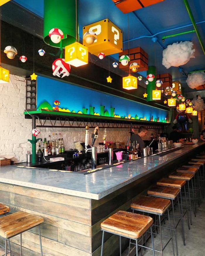 Acaban de abrir un bar temático de Super Mario en Washington y es genial