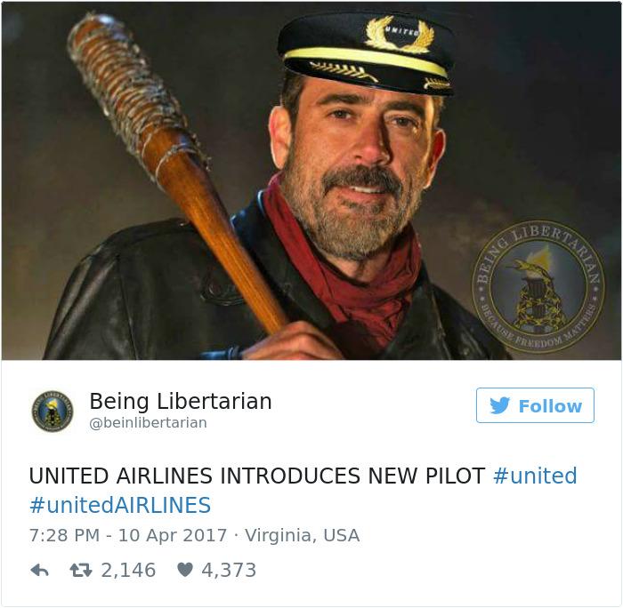 10 Divertidas reacciones a United Airlines sacando a un hombre a rastras del avión