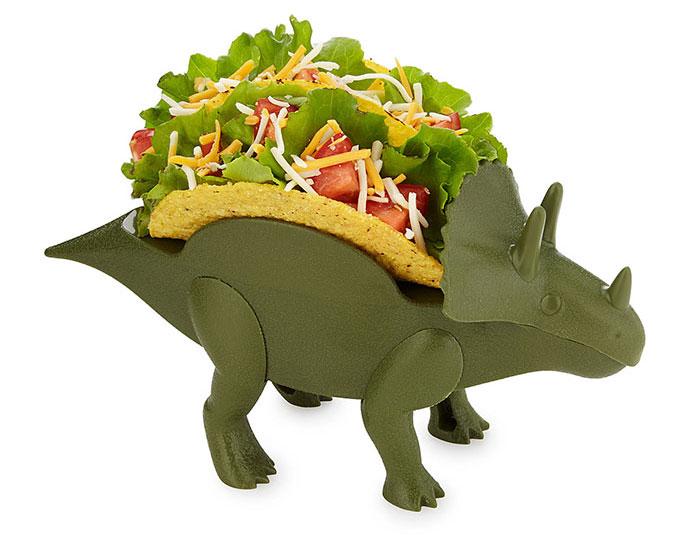 Vuelve el triceratops prehistórico en forma de portatacos, perfecto para todas las cocinas